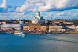 Letnia panorama w Helsinkach, w Finlandii