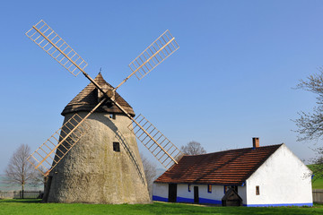 windmill and farmstead,Kuzelov,Czech republic