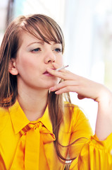 smoking young woman