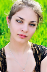 portrait of attractive teen girl