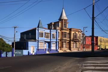 Viktorianische Bürgerhäuser in playa ancha, Valparaíso / Chile
