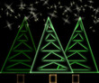 Abstract christmas trees and stars