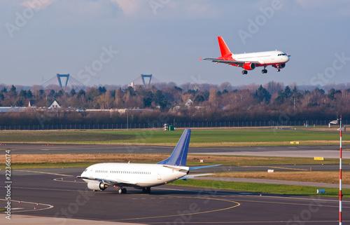 Poster Airplane Landing