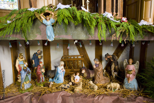 crib, church in Outines, Champagne, France