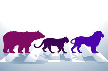 Tiere auf Zebrastreifen