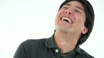 Handsome man laughing