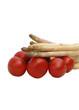 asperges et tomates