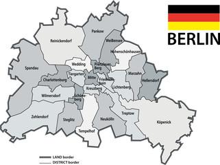 BERLIN - Karte bezirk - (#2) 2010