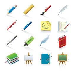 drawing and writing icons