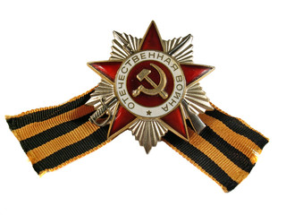 Award of Patriotic war with a tape on a white background