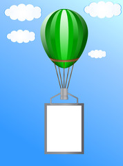Balloon with a banner