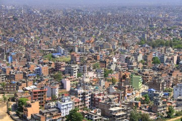 Kathmandu (Nepal) - Aerial View from Monkey Temple