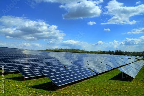 Leinwanddruck Bild Solarkraftwerk 01