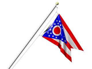 Isolated Ohio Flag