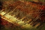 Fototapety Grunge musical background