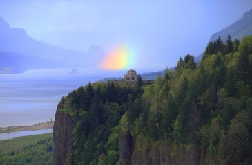 Rainbow & vista house Oregon.