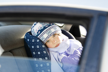 girl in carseat