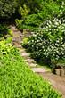 Natural stone garden steps