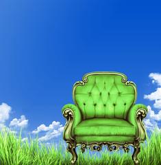 Sessel im Gras