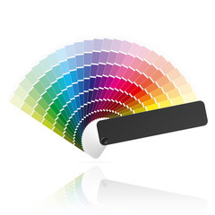 Color fan. Vector.
