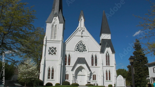 architecture  historic church Bedford New York 1865