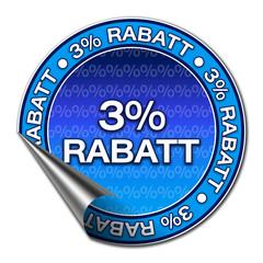 Aufkleber - 3% Rabatt (1-03)
