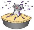 Maus, Kuchen, Ratte, fressen, glücklich, ausgelassen