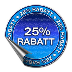 Aufkleber - 25% Rabatt (1-03)