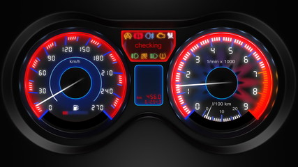 car dashboard animation