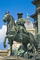 One of the four generals statues at the Maria Theresien monument