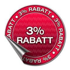 Aufkleber - 3% Rabatt (3-03)