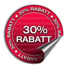 Aufkleber - 30% Rabatt (3-02)