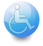 "Shiny Orb Button ""Handicapped / Access Symbol"""