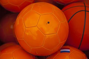 a orange soccerbal