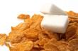 corn flakes con zollette di zucchero