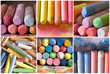 collage of dried pastels