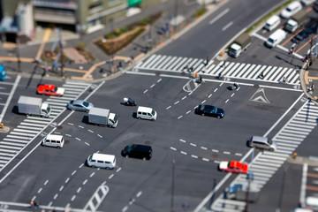 Kreuzung in Tokyo  - Tiltshift