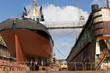 Leinwanddruck Bild - Trockendock, Werft, Hamburger Hafen