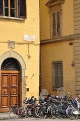 Bikes in the City. Florence, Italy