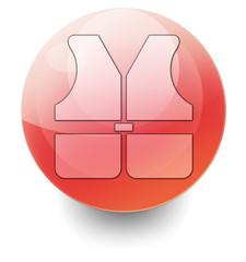 "Shiny Orb Button ""Life Vest"""