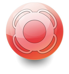 "Shiny Orb Button ""Life Buoy"""