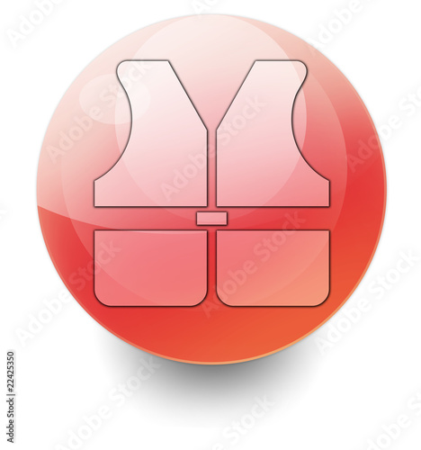 "Shiny Orb Button ""Life Vest"""