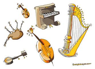 Instruments de musique séparés