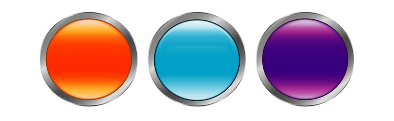 Modern button set of icons