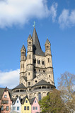 church of Gross St. Martin in Cologne, Germany.