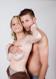 Lovers erotic embrace poster