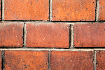 Red brick texture, close range