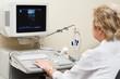 medic using ultrasound system