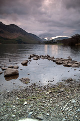 Lake Buttermere and mountain landscape