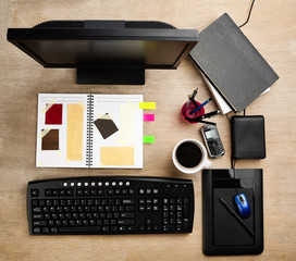 Designer working desk
